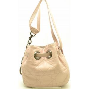 (バッグ)Christian Dior クリスチャンディオール カナージュ レザー ショルダー バッグ CLB44481 ピンク(u) blumin