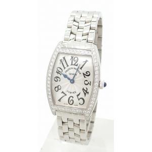 (ウォッチ)FRANCK MULLER フランク ミュラー トノーカーベックス ダイヤベゼル シルバー文字盤 レディース QZ クォーツ 腕時計 1752 QZ DP(u) blumin