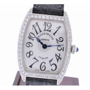 (ウォッチ) FRANCK MULLER フランクミュラー トノーカーベックス ダイヤベゼル K18WG 750WG ホワイトゴールド 1752 QZ D レディース クォーツ 腕時計(u) blumin