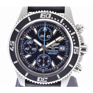 (ウォッチ)BREITLING ブライトリング スーパーオーシャン クロノグラフ クロノメーター 500m A13341 アビスブルー文字盤 メンズ 腕時計 AT オートマ(k)|blumin