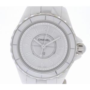 (ウォッチ) CHANEL シャネル J12 ホワイトファントム 世界限定2000本 29mm ホワイト セラミック 白 レディース クォーツ 腕時計 H3705(k)|blumin