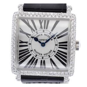 (ウォッチ)FRANCK MULLER フランク ミュラー マスタースクエア ダイヤベゼル ラグダイヤ K18WG 750WG ホワイトゴールド レディース QZ 腕時計 6002 L QZ D(u) blumin