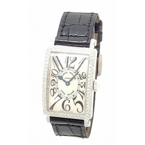 (ウォッチ)FRANCK MULLER フランク ミュラー ロングアイランド ダイヤベゼル ダイヤラグ K18WG 750WG ホワイトゴールド クォーツ レディース 腕時計 902QZ D(u) blumin