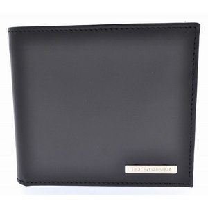 (財布)DOLCE&GABBANA ドルチェ&ガッバーナ D&G 2つ折財布 レザー 黒 ブラック BP0457 B6148 80999(u)|blumin