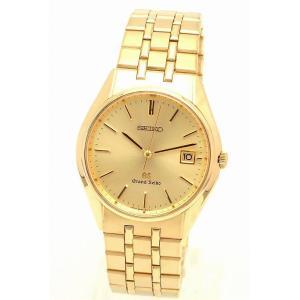 (ウォッチ)SEIKO セイコー Grand Seiko グランドセイコー GS K18YG イエローゴールド 金ムク メンズ クォーツ 腕時計 9587-8010 SBGS006 (k)|blumin