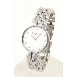 (ウォッチ)Christian Dior クリスチャンディオール バギラ 12Pダイヤ レディース クォーツ 腕時計 D44-120(u) blumin