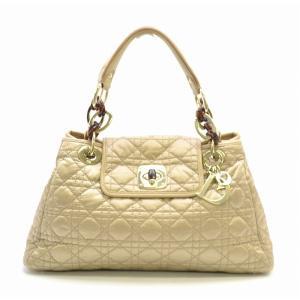 (バッグ)Christian Dior クリスチャンディオール カナージュ ターンロック ハンドバッグ ナイロン ベージュ 07 BO 0049(k) blumin