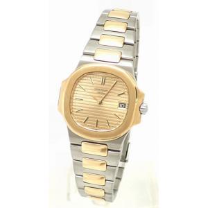 (ウォッチ)PATEK PHILIPPE パテックフィリップ ノーチラス デイト SS/K18YG コンビ レディース クォーツ 腕時計 4700/1 (k)|blumin