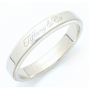 (ジュエリー)TIFFANY&Co. ティファニー ノーツ バンドリング ミルグレイン エッジ 4MM Pt950 プラチナ 指輪 #22.5(u)|blumin