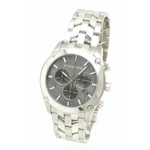 (ウォッチ)BURBERRY バーバリー ヘリテージ クロノグラフ グレーダイアル メンズ クォーツ 腕時計 BU1850 (k) blumin