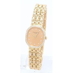 (ウォッチ)PATEK PHILIPPE パテック フィリップ 12Pダイヤ ダイヤベゼル ダイヤブレス K18YG 無垢 レディース QZ クォーツ 腕時計 4781/2J(u)|blumin