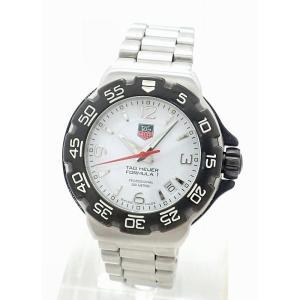 (ウォッチ)TAG Heuer タグホイヤー FORMULA 1 F1 フォーミュラー1 デイト SS ホワイト文字盤 ボーイズ クォーツ 腕時計 WAC1211(k)|blumin