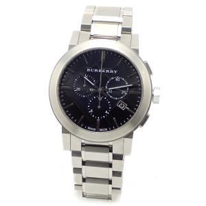 (ウォッチ)BURBERRY バーバリー シティ クロノグラフ デイト ブラックダイアル メンズ QZ クォーツ 腕時計 BU9351 (k) blumin