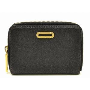 (財布)DOLCE&GABBANA ドルチェ&ガッバーナ D&G ミニプレートロゴ ラウンドファスナー財布 型押しレザー 黒 ブラック(k)|blumin