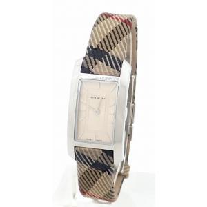 (ウォッチ)BURBERRY バーバリー シルバー文字盤 SS チェック柄ベルト レディース QZ クォーツ 腕時計 BU1051 (k) blumin