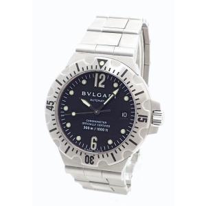 (ウォッチ)BVLGARI ブルガリ ディアゴノ スクーバー 300m ダイバー デイト ブラック文字盤 メンズ AT オートマ 腕時計 SD40S (k)|blumin