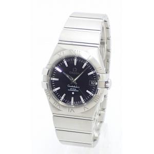 (ウォッチ)OMEGA オメガ コンステレーション コーアクシャル クロノメーター デイト 35mm ブラック文字盤 メンズ AT オートマ 腕時計 123.10.35.20.01.001(k) blumin