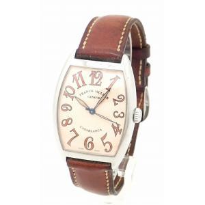 (ウォッチ)FRANCK MULLER フランク ミュラー トノーカーベックス カサブランカ サハラ SS レザーベルト メンズ AT オートマ 腕時計 国内正規品 2852 (k) blumin