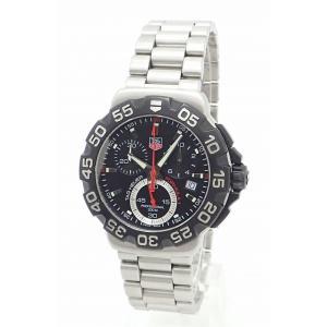 (ウォッチ)TAG Heuer タグ ホイヤー FORMULA 1 F1 フォーミュラー1 クロノグラフ スモールセコンド デイト SS ブラック メンズ クォーツ 腕時計 CA1110.BA085(k)|blumin