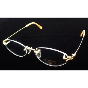 CITIZEN シチズン フォルマ 眼鏡 メガネ フレーム K18 イエローゴルド 金 18金 (k) blumin