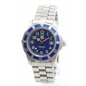 (ウォッチ)TAG Heuer タグ ホイヤー プロフェッショナル 2000シリーズ デイト ブルー文字盤 200m レディース QZ クォーツ 腕時計 WM1313(u)|blumin