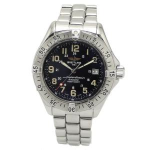 (ウォッチ)BREITLING ブライトリング スーパーオーシャン デイト ブラック文字盤 1000m ダイバー メンズ 腕時計 AT オートマ A17040(u)|blumin