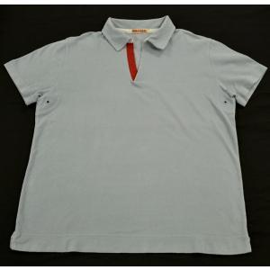 (アパレル)PRADA プラダ プラダスポーツ 半袖 トップス ポロシャツ コットン100% ブルー系 メンズ(u)|blumin