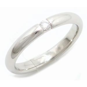 (ジュエリー)TIFFANY&Co. ティファニー エルサ ペレッティ スタッキング バンドリング ダイヤリング 指輪 9号 Pt950 プラチナ (k)|blumin