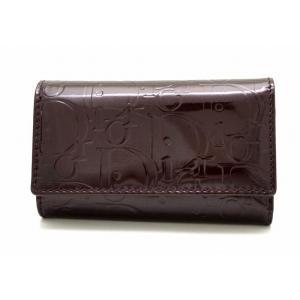 (財布)Christian Dior クリスチャン ディオール 6連 キーケース パテントレザー ボルドーパープル S0102PEML-335U(k) blumin