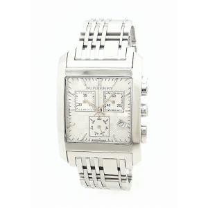 (ウォッチ)BURBERRY バーバリー スクエア クロノグラフ デイト シルバー文字盤 SS メンズ QZ クォーツ 腕時計 BU1560(k) blumin