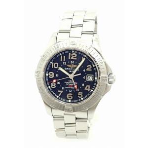 (ウォッチ)BREITLING ブライトリング コルト GMT デイト ブラック文字盤 500m ダイバー メンズ 腕時計 AT オートマ A32350(k)|blumin