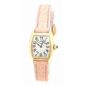 (ウォッチ)FRANCK MULLER フランク ミュラー トノーカーベックス プティ シルバー文字盤 20mm K18PG ピンクゴールド レディース QZ クォーツ 腕時計 2500 (k) blumin