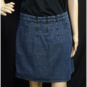 (アパレル)CHANEL シャネル レディース スカート ミニスカート 膝上 デニム コットン100% デニムブルー 青 サイズ40 #40 クリーニング済(u)|blumin