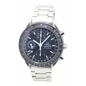 (ウォッチ)OMEGA オメガ スピードマスター トリプルカレンダー クロノグラフ ブラック文字盤 メンズ AT オートマ 腕時計 3520.50 3520 50(u) blumin