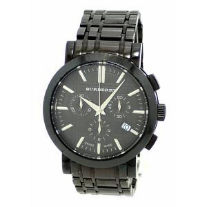 (ウォッチ)BURBERRY バーバリー ヘリテージ クロノグラフ デイト ブラック文字盤 ブラック SS メンズ QZ クォーツ 腕時計 BU1373(k) blumin