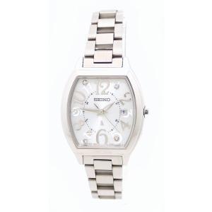 (ウォッチ)SEIKO セイコー ルキア トノー デイト 4Pダイヤ シルバー文字盤 SS レディース ソーラー 電波時計 腕時計 SSVW047(u)|blumin