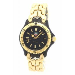 (ウォッチ)TAG Heuer タグ ホイヤー S/el セルシリーズ 200m防水 ブラック文字盤 GP デイト レディース QZ クォーツ 腕時計 WG1320-0(k)|blumin