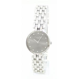 (ウォッチ)Christian Dior クリスチャン ディオール バギラ グレー文字盤 インデックス ダイヤ 12PD SS レディース QZ クォーツ 腕時計 D44-120(k) blumin