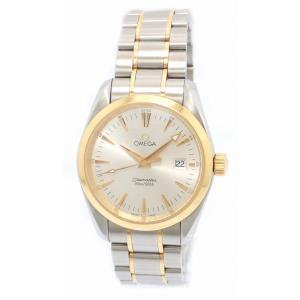 (ウォッチ)OMEGA オメガ シーマスター アクアテラ K18 ゴールド SS コンビ メンズ クォーツ ホワイト文字盤 腕時計 22317.30(u) blumin