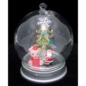 Samantha Thavasa サマンサ タバサ ガラスドーム クリスマスツリー イルミネーション サンタクロース アイミーベア 置物 オブジェ(k)|blumin
