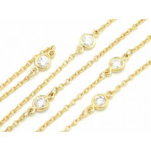 (ジュエリー)TIFFANY&Co. ティファニー エルサ ペレッティ バイザヤード ネックレス ペンダント K18YG 5PD ダイヤモンド ダイヤ(k)|blumin