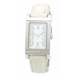 (ウォッチ)BVLGARI ブルガリ レッタンゴロ ホワイトダイアル SS クォーツ レディース 腕時計 RT39S(u)|blumin
