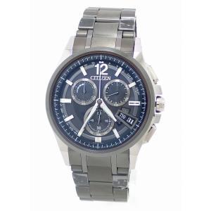 (ウォッチ)CITIZEN シチズン アテッサ ダイレクトフライト クロノグラフ デイト ブラック文字盤 チタン メンズ エコドライブ 電波時計 腕時計 BY0094-61F(u) blumin