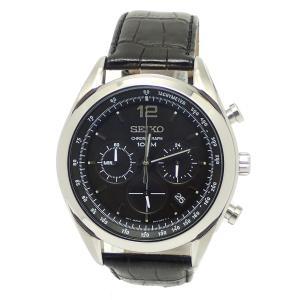 (ウォッチ)SEIKO セイコー クロノグラフ デイト メンズ 腕時計 ブラック文字盤 QZ クォーツ SS SSB097P1 6T63-00J0(k)|blumin