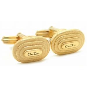 (ジュエリー)Christian Dior クリスチャン ディオール カフス オーバル型 四角 GP メッキ ゴールド金具(u) blumin