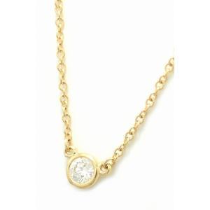 (ジュエリー)TIFFANY&Co. ティファニー バイザヤード ネックレス ペンダント K18 YG ゴールド 1PD ダイヤモンド D0.14ct(k)|blumin