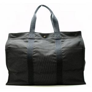 (バッグ)HERMES エルメス エールライン トートTGM GM トートバッグ 旅行鞄 旅行 ショルダートート キャンバス グレー(k) blumin