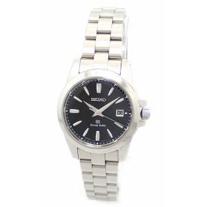 (ウォッチ)SEIKO セイコー GRANDSEIKO グランドセイコー GS デイト ブラック文字盤 SS レディース クォーツ 腕時計 4J52-0AA1 STGF055(u)|blumin