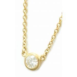 (ジュエリー)TIFFANY&Co. ティファニー バイザヤード ネックレス ペンダント K18 YG ゴールド 1PD ダイヤモンド 0.14ct(k)|blumin