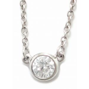(ジュエリー)TIFFANY&Co. ティファニー バイザヤード ダイヤ ネックレス ペンダント Pt950 プラチナ 1PD ダイヤモンド 0.14ct(k)|blumin